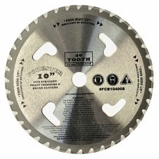 "Forester 40 Tooth Carbide Tip Brush Blade w/ Venting - 10"" x 1"" / 20mm Arbor"