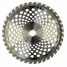 "Forester 40 Tooth Vented Carbide Tip Brush Cutter Blade - 10"" x 1"" / 20mm Arbor"