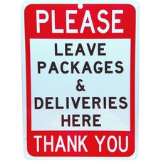 """Forester 7"""" x 10"""" Reflective Aluminum Sign - Deliveries Here"""