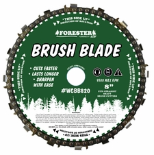 "Forester 8"" Chainsaw Chain Loop Brush Cutter Blade - 1"" / 20mm Arbor"