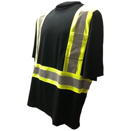 Forester Class 1 Reflective Safety T-Shirt - Black
