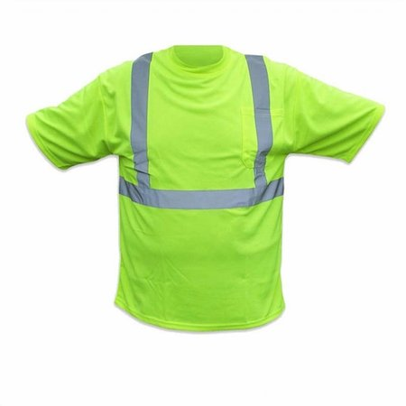 Forester Hi-Vis Class 2 Reflective Safety T-Shirt - Safety Green