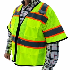 Forester Hi-Vis Class 3 Sleeved Surveyor Vest