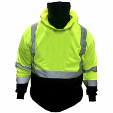 Forester Double Weight Class 3 Hi-Vis Pullover Hoodie w/ Built in Face Mask