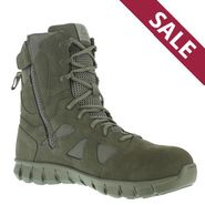 Reebok RB8881 Men's Sublite Cushion USAF Sage Green Side Zip Composite Toe Tactical Boot