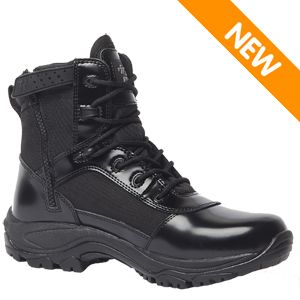 Tactical Research TR906Z Men's 6 inch Hot Weather High Shine Side-Zip Boot