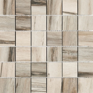 Azuliber Fossil Gris 2 in. x 2 in. Porcleain Tile Mosaics