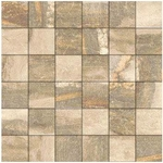 Azuliber Madison Camel 2 in. x 2 in. Porcleain Tile Mosaics