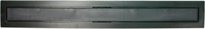 Compotite 36 inch Tile-in Top Black ABS Linear Drain Cover Plate