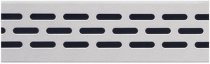 Compotite 48 inch Oval Design Stainless Steel Linear Drain Grate
