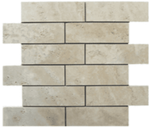 Light 2x6 Honed Square Edge Travertine