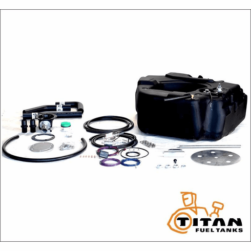 4020208 TITAN 30 Gallon Spare Tire Auxiliary Fuel System for 2008-2016 Ford F250SD, F350SD, and F450SD