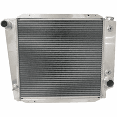 521AA2R Aluminum Radiator for 1966-1977 Ford Bronco, 2.8L, 3.3L, 4.7L and 5.0L Engines, 2 Row