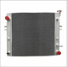90004AA22L Aluminum Forklift Radiator for Toyota 7FGCU15, 7FGCU18, 7FGCU20, 7FGCU25, 7FGCU30, 7FGCU32, 7FGU18, 7FGU20, 7FGU25, 7FGU30, 7FGU32, 2.2L GAS, 2000-2007, 18X18X2