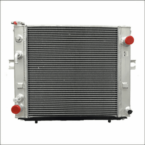 90005AA Aluminum Forklift Radiator for Hyster S25-35XM, S25-40XM, S40XMS 2.0L GAS or LPG, 1994-2004, 17X17X2