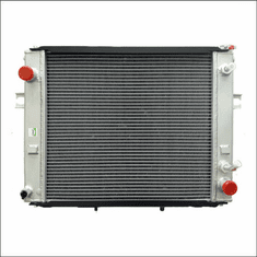 90006AA Aluminum Forklift Radiator for Hyster H45-65XM, 3.0L GAS, 1980-1985, 19X17X2