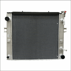 90011AA Aluminum Forklift Radiator for Toyota 7FGCSU20, 7FGCU15, 7FGCU18, 7FGCU20, 7FGCU25, 7FGCU30, B487FGCU32, 7FGU15, 7FGU18, 7FGU20, 7FGU25, 7FGU30, 7FGU32, 2.2L GAS, 2000-2008, 18X18X2
