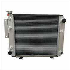 90016AA Aluminum Forklift Radiator for Hyster H25-35XM, S25-35XM, S40XMS, S60E, 2.0L, 3.9L, 4.1L GAS, Diesel or LPG, 1994-2005, 18X17X2