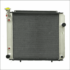 90032AA Aluminum Forklift Radiator for Hyster S40-65XM, 2.0L GAS or LPG, 1994-2004, 20X19X3