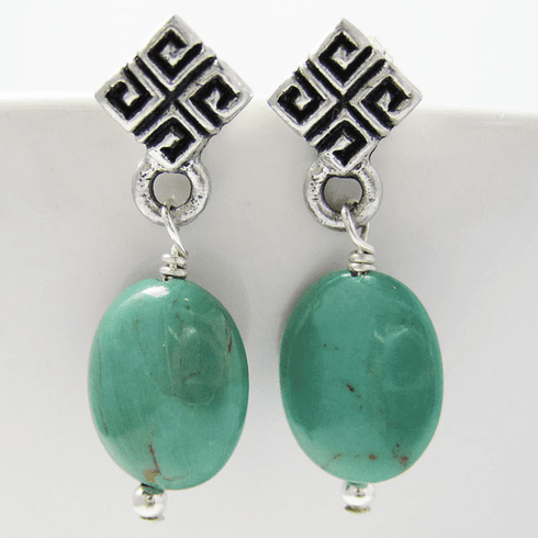 Art Deco Turquoise Earrings