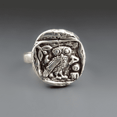 Athena Owl Coin Ring