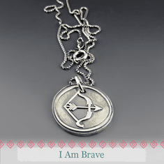 Be Brave - Bow & Arrow Necklace
