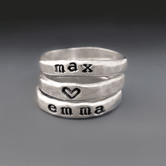Close To My Heart <br> Stacking Name Rings