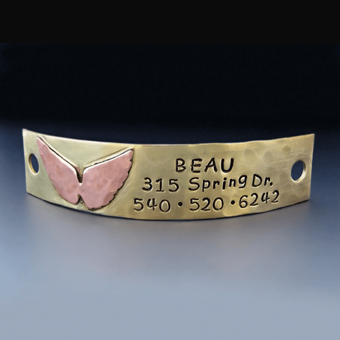 Personalized Angel Wing Dog Tag
