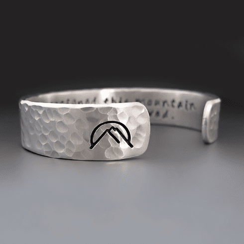 Custom Silver Mountain Bracelet