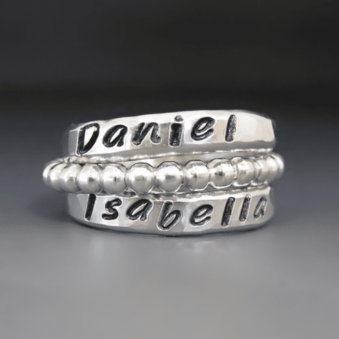 Personalized Name Rings {Sterling}