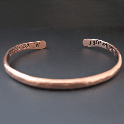 Double Sided Custom Thin Copper Stacking Bracelet