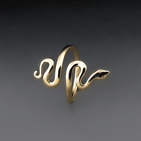 Gold Bronze Snake Ring