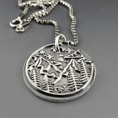 Great Adventure Mountain Necklace