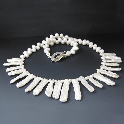 Helen of Troy Pearl Necklace {White Freshwater Pearls}