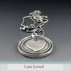 I Am Loved - <br>Sterling Silver Heart Necklace