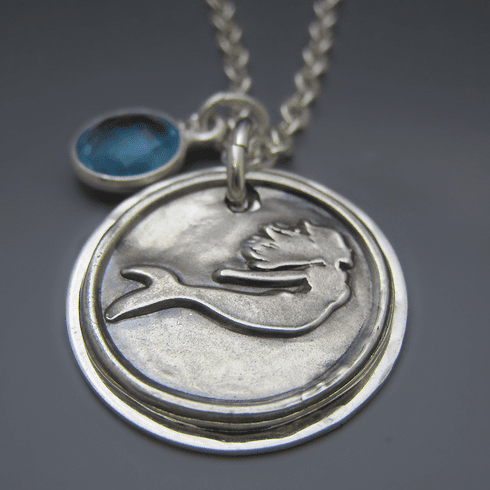 I'd Rather Be A Mermaid Necklace {Sterling & Fine Silver}
