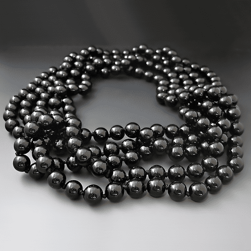 Long Black Onyx Necklace {80 inches}