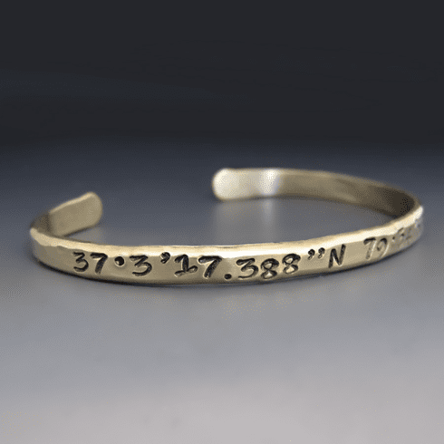 Longitude / Latitude Stacking Bracelet