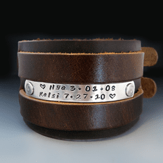 Men's 2 inch Wide Custom <br> Leather Bracelet