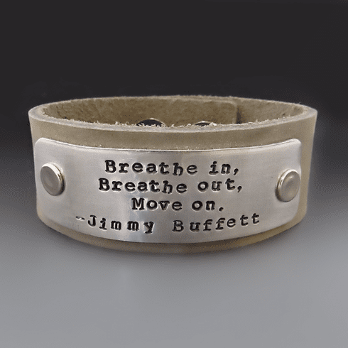 Men's Breathe In Breathe Out <br>Move On Leather Cuff