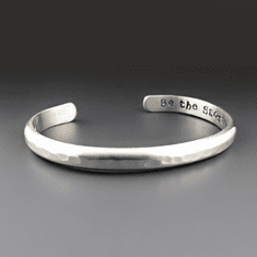 Personalized Heavy 4 Gauge Sterling Silver Cuff