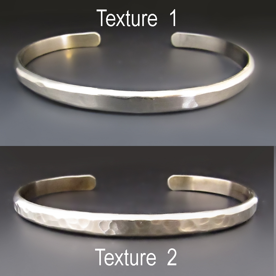 Thick Hammered Sterling Silver Bangle Made to Order