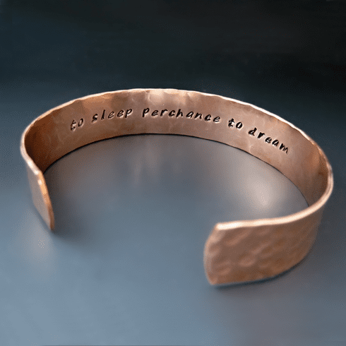 Men's Personalized Copper <br>Cuff Bracelet {1/2 inch wide}