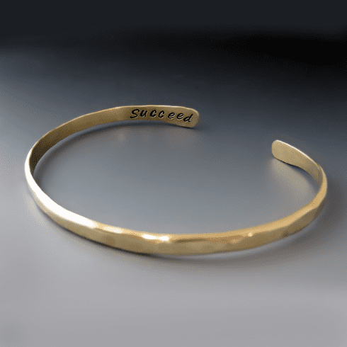 Men's Personalized Thin <br>Gold Brass Boyfriend Cuff