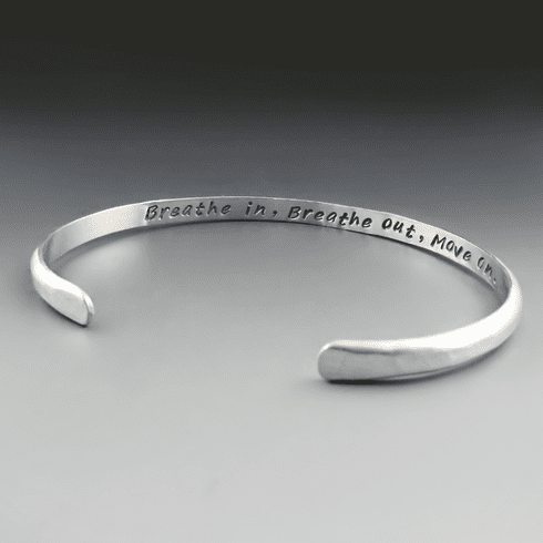 Men's Personalized Thin Sterling Silver Cuff