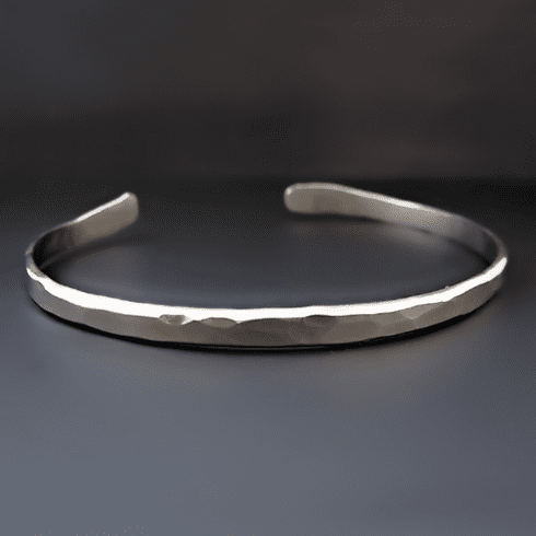 Men's Thin Nickel Silver Boyfriend Cuff