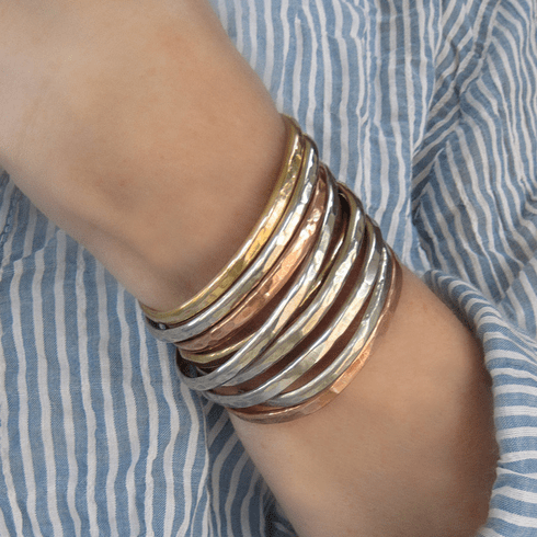 ONE Thin Stacking Bracelet {Copper, Gold Brass or Silver}
