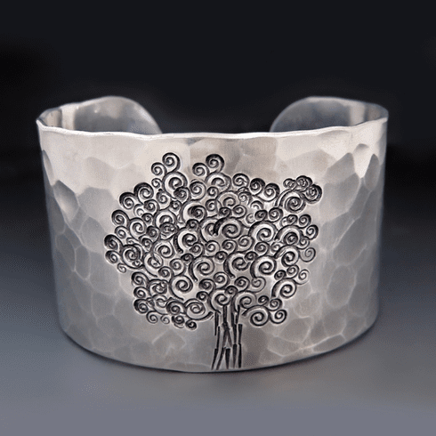 Personalized 1.5 inch wide <br>Tree of Life Cuff Bracelet