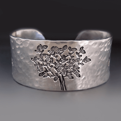 Personalized 1 inch wide <br>Tree of Life Cuff Bracelet