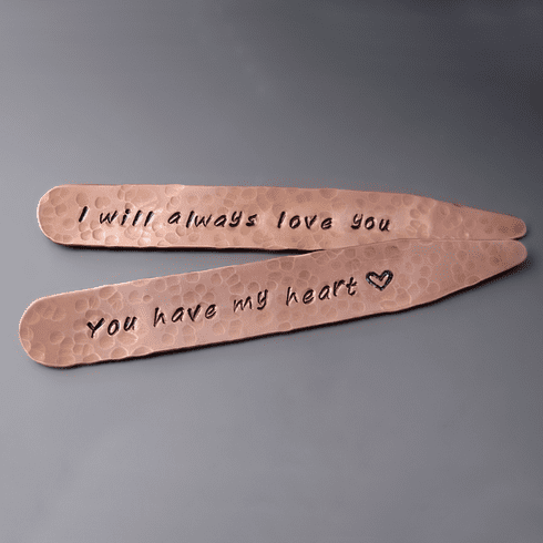 Personalized Collar Stays <br> {Copper, Brass, Silver}
